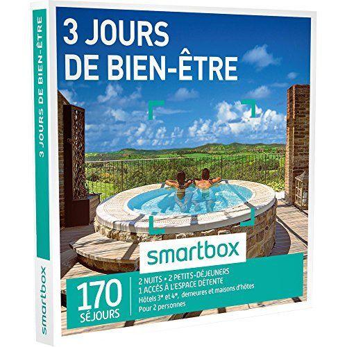 SMARTBOX – Coffret Cadeau – 3 JOURS DE BIEN-ÊTRE – 170 séjours : hôtels 3* et 5*, demeures et maisons d'hôtes avec accès à l'espace détente…