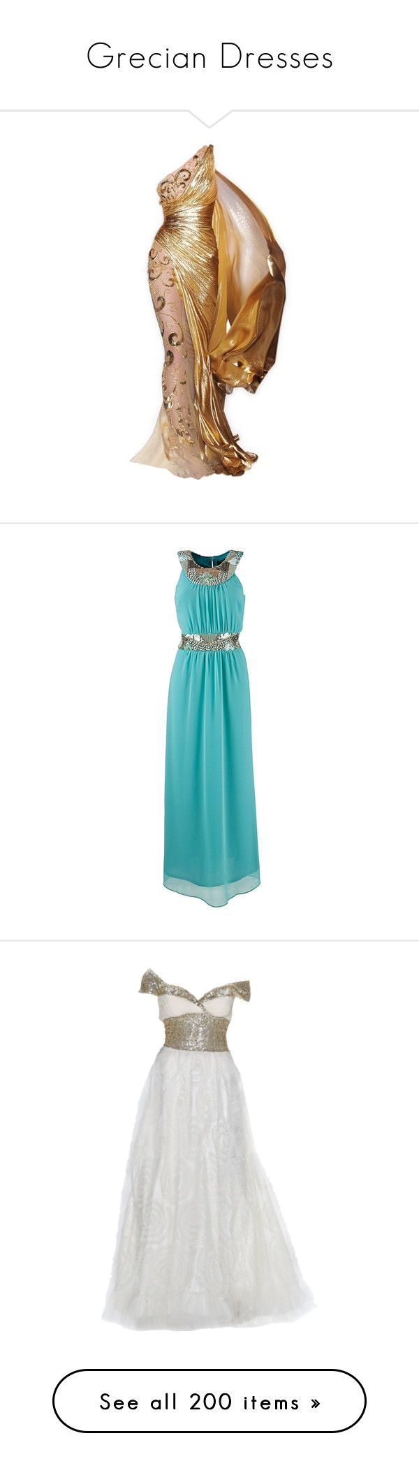 """""""Grecian Dresses"""" by heartlessrose ❤ liked on Polyvore featuring dresses, gowns…"""