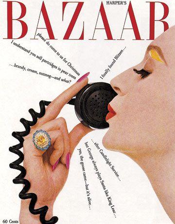 Vintage Harper's Bazaar Cover. December 1958. ~ www.thefrenchbeautyacademy.edu.au