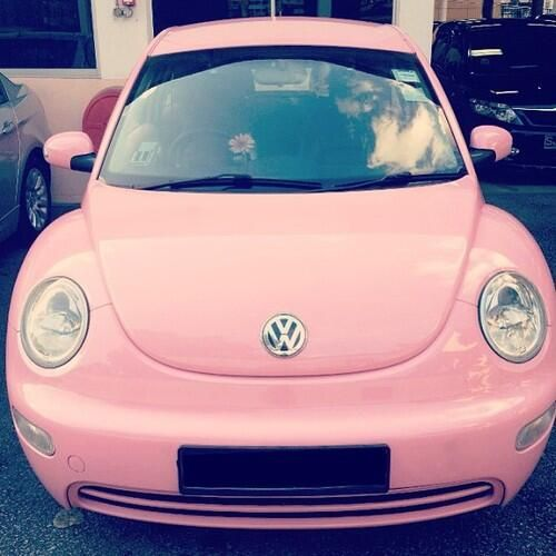 Pink VW #girly For guide + advice on lifestyle, visit www.thatdiary.com