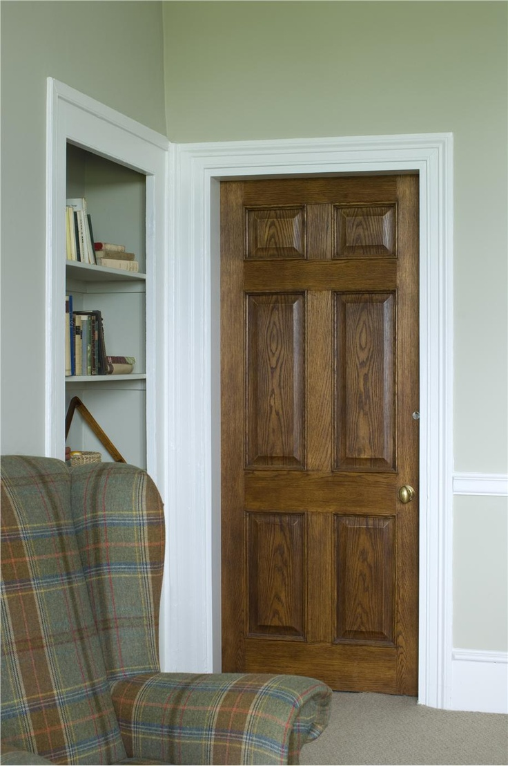 Farrow and ball wooden door