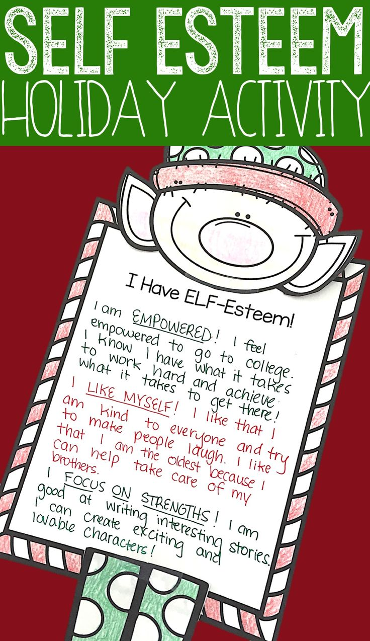 This elementary school counseling classroom guidance lesson introduces a simple acronym to teach students what it means to have high self-esteem! Students create a holiday craft to show off how they feel empowered, what they like about themselves, and the strengths they have! Christmas craft for self esteem is great for small group counseling, classroom guidance lessons, and individual counseling. -Counselor Keri