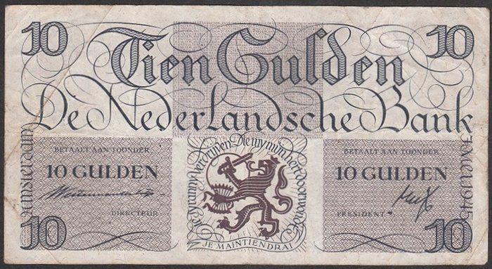 """Nederlands - Bankbiljet 10 Guldens 1945 I """"Lieftincktientje"""""""
