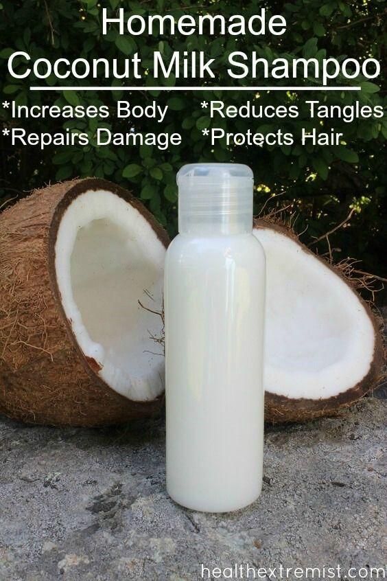 Selbst gemachtes Kokosmilch-Shampoo