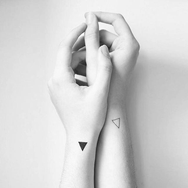 These yin and yang tattoos are super unique yet subtle.
