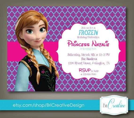 Frozen Birthday Invite Graphic Design Stuff Pinterest