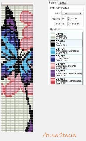Beaded Butterfly PATTERN loom: