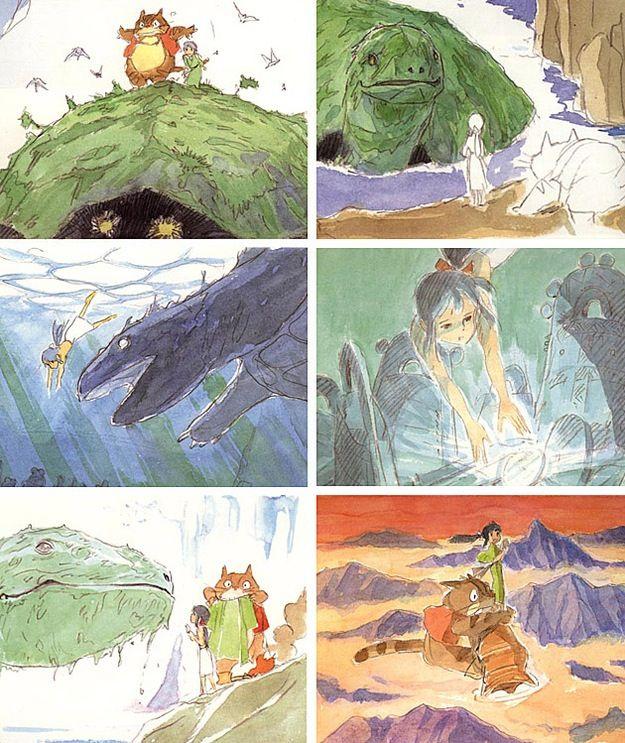 宮崎駿が描いたジブリ映画作品のコンセプト・スケッチいろいろ - DNA