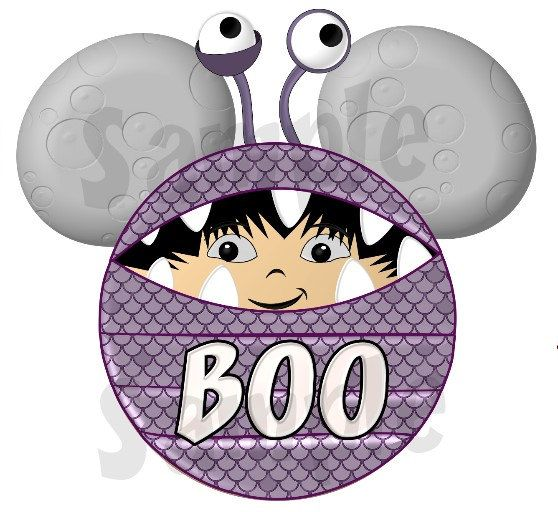 Monster's Inc. Boo inspired Character by SwirlyColorPixels on Etsy