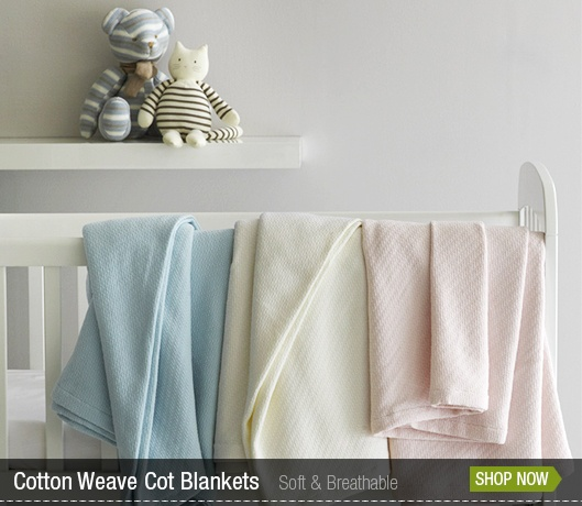 Your Home Cotton Weave Cot Blankets by Canningvale