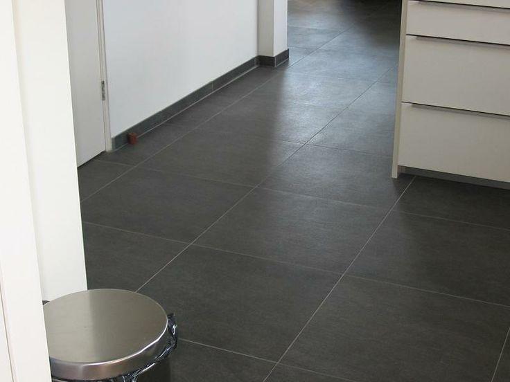 Zwarte 60x60 quartziet look-a-like vloertegels (12) Tegelhuys