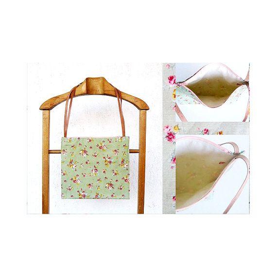 Floral bag Shoulder bag small shoulder bag cute by AlfaHandmade