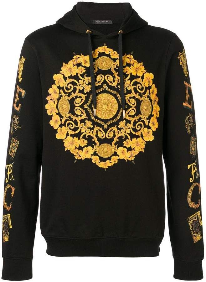 c2846e8e25 Versace Baroque logo hoodie in 2019 | Versace collection | Versace ...