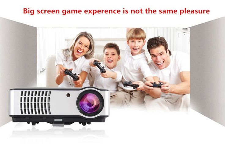 Rigal RD-806 LCD HD 1080P LED Portable Projector 1280x800 2800 Lumens HDMI VGA Home Theater