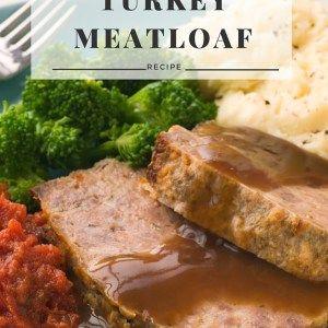 Healthy Turkey Meatloaf {GF}