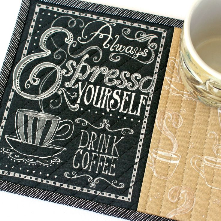 Quilted Coffee Mug Rug Espresso Snack Mat Etsy in 2020