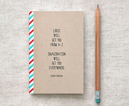 Designspiration — Einstein Mini Journal Sketchbook Eco Friendly by HappyDappyBits