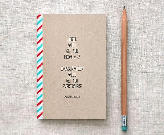 Designspiration — Einstein Mini Journal Sketchbook Eco Friendly by HappyDappyBits