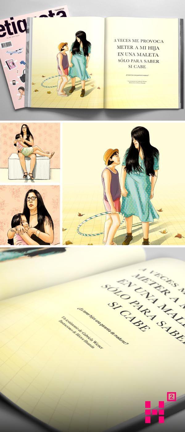 #Ilustración de #GabrielaWiener, para la edición N. 125 de la #revista Etiqueta Negra.