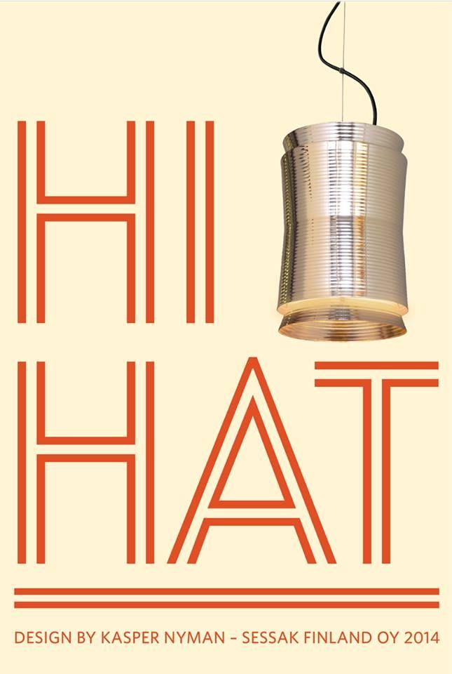 Hi-Hat, Copper metal Pendant light By Kasper Nyman
