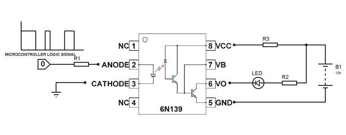 6n139 Optocoupler Circuit
