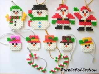 Handmade Perler Christmas Ornaments