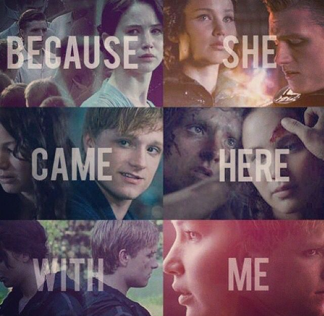 The moment when Katniss found out Peeta and him where in love ❤️