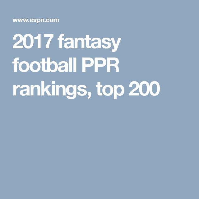 image regarding Espn Printable Fantasy Football Rankings named 2017 myth soccer final-200 PPR scores myth