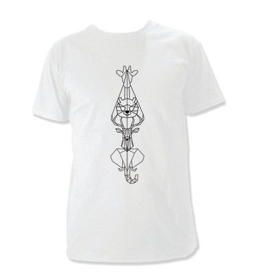 Geometric animal totem t-shirt design
