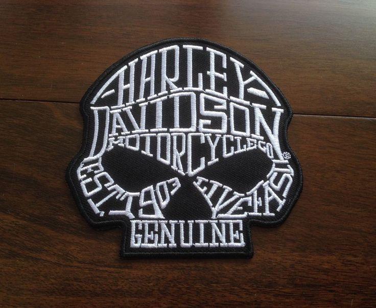 Patch / Ecusson Harley Davidson Skull HD Biker  10 X 10 Cm Motorcycles Motard