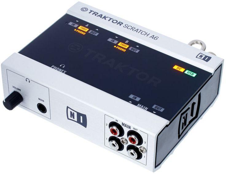 Native Instruments Traktor Scratch A6, professional DJ system including Traktor Scratch Pro 2 Software, controls digital music files thomann using turntables or CD decks