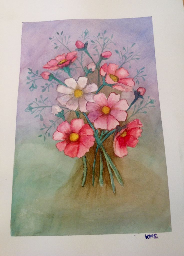 Feb 2015  A spring bloom! By Kylie Sichler (water colour)