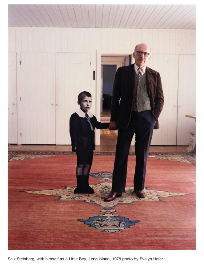 Me and myself by Saul Steinberg, photographed at home in 1971    [Title by me] via  EYE-LIKEY: SAUL STEINBERG