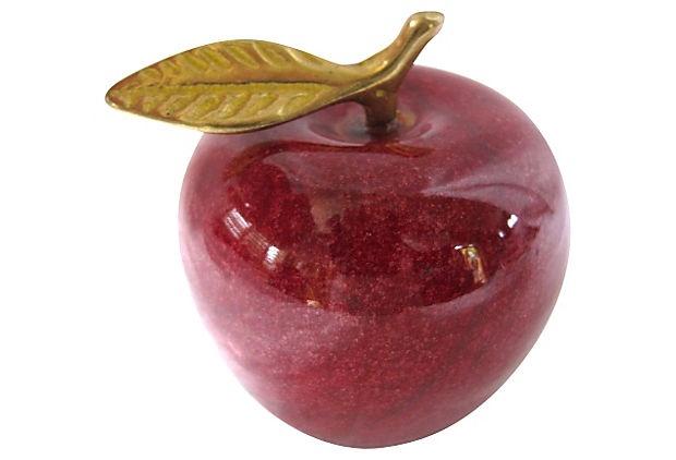 Marble  Apple Paperweight on OneKingsLane.com