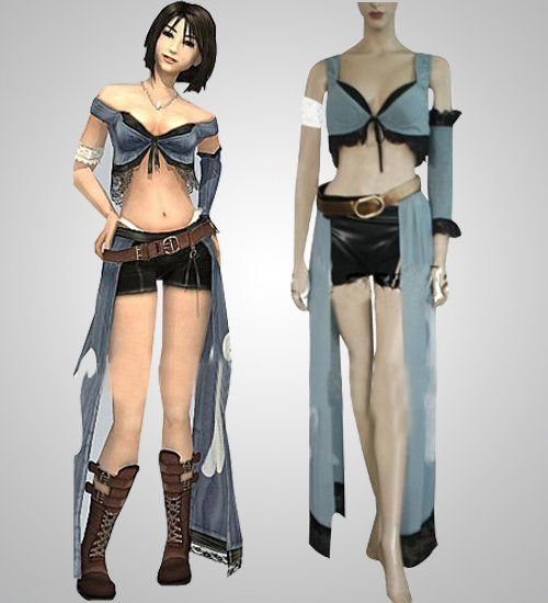 anime cosplay outfits for sale: Custom Made Cheap Final Fantasy XII Yuna Lenne Cosplay