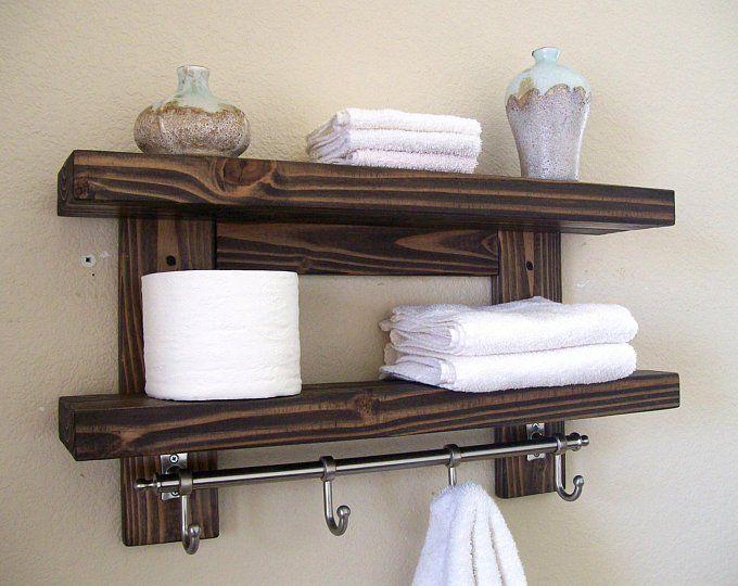 Floating Shelves Bathroom Shelf Towel Rack Floating Shelf Wall
