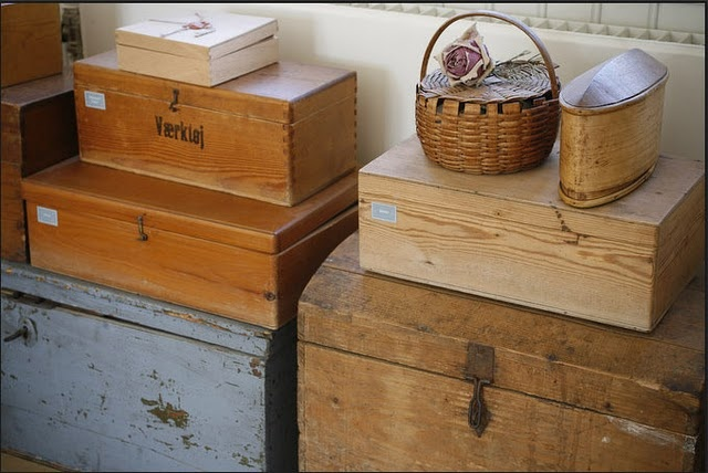 treasure wooden boxes