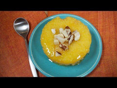 Tapioca and coconut pudding pudim de tapioca - Brazilian Cuisine