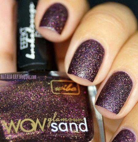 Brown Glitter Nail Polish #texturedmani #marsala #coloroftheyear #nails #nailart - bellashoot.com & bellashoot iPhone & iPad app