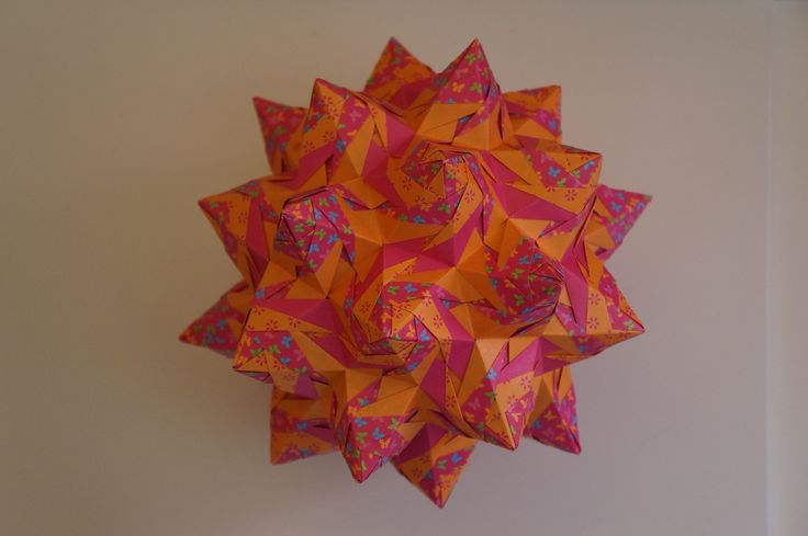 origami rose kusudama tomoko fuse 90 modules rectangles de 8 cm x. Black Bedroom Furniture Sets. Home Design Ideas