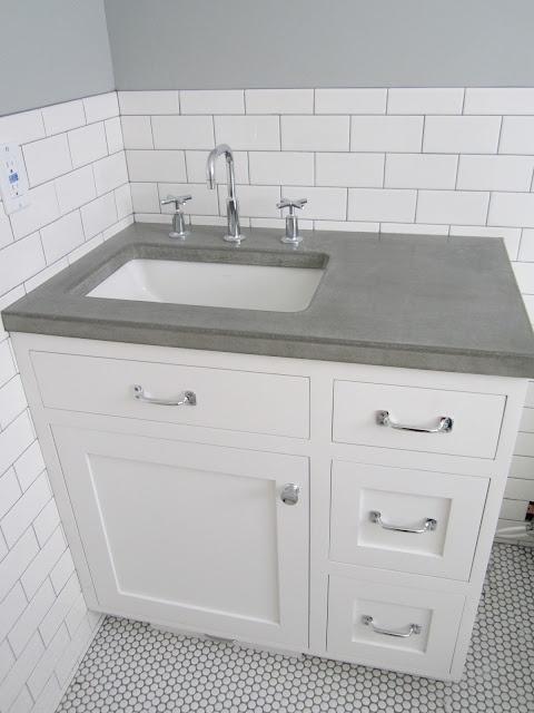 Concrete Top Vanity Desk : Best ideas about penny countertop on pinterest bar