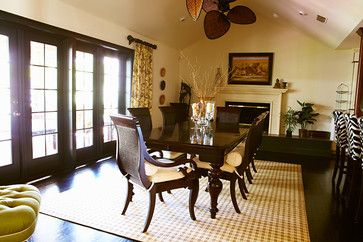 From Houzz, British Colonial Global Traveller Dining Room