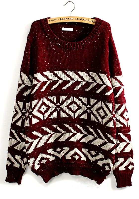 This cozy sweater has snow and winter written all over it:)