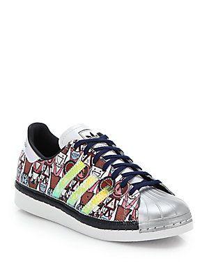 adidas Originals by Mary Katrantzou Badge-Print Shell-Toe Sneakers