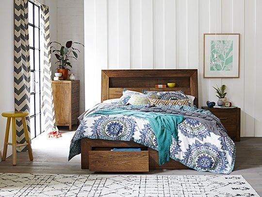 Clovelly Bed Frame: Queen Bed Frame (2 Drawer)
