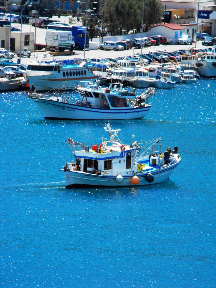 https://flic.kr/p/rHr3X7 | Fishingboats _ Greece Kalymnos M Lamprinos | Kalymnos harbour  Taken on April 3, 2015