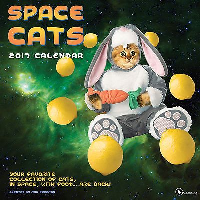 2017 Space Cats Wall Calendar in Collectibles, Paper, Calendars | eBay