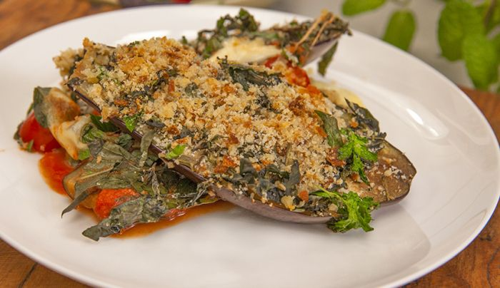Rustic Eggplant Parmigiana - Good Chef Bad Chef