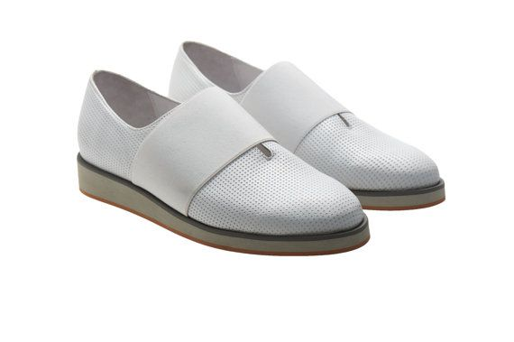 ON SALE 30% White platform sneakers for women  by NormanAndBella