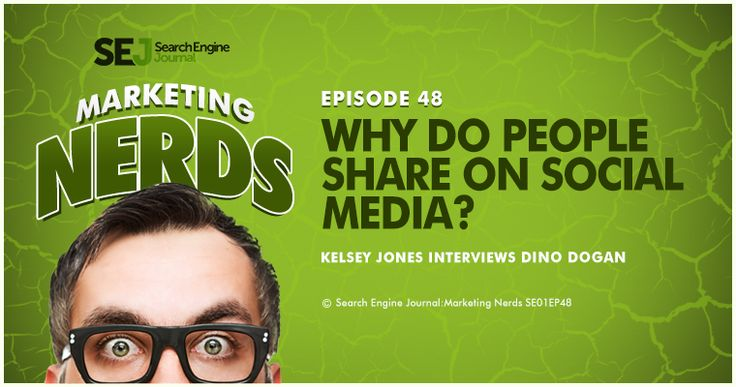 In today's episode of Marketing Nerds, Triberr CEO and founder Dino Dogan joins SEJ Executive Editor Kelsey Jones to talk about what spurs people to share content on social media. They will also discuss the reciprocity of sharing (both for the author and the sharer) and why social sharing goes beyond just social media.